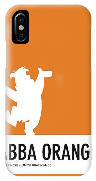 Brain iPhone Case - No04 My Minimal Color Code Poster Fred Flintstone by Chungkong Art