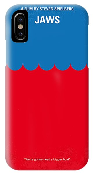 No046 My Jaws Minimal Movie Poster IPhone Case