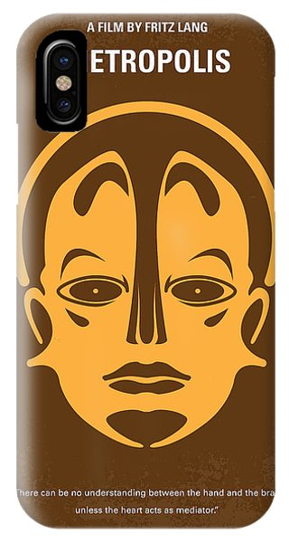 Inventor iPhone Case - No052 My Metropolis Minimal Movie Poster by Chungkong Art