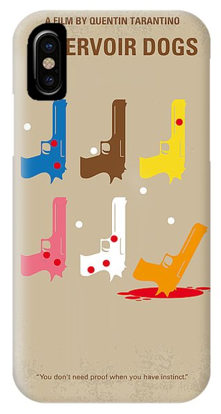 Diamond iPhone Case - No069 My Reservoir Dogs Minimal Movie Poster by Chungkong Art