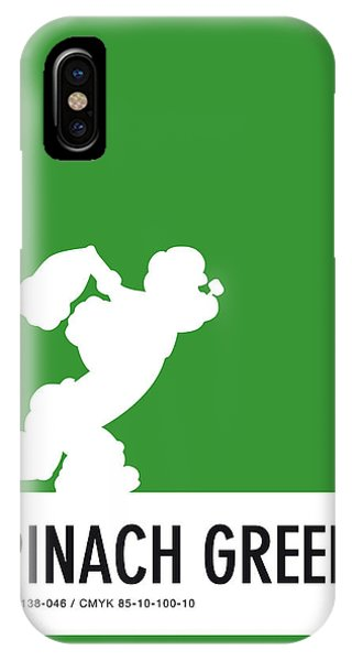 Brain iPhone Case - No07 My Minimal Color Code Poster Popeye by Chungkong Art