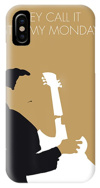 Electric Guitar iPhone Case - No070 My Tbone Walker Minimal Music Poster by Chungkong Art