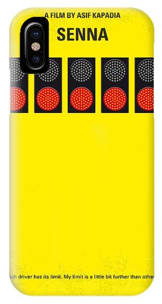 Brazil iPhone X Case - No075 My Senna Minimal Movie Poster by Chungkong Art