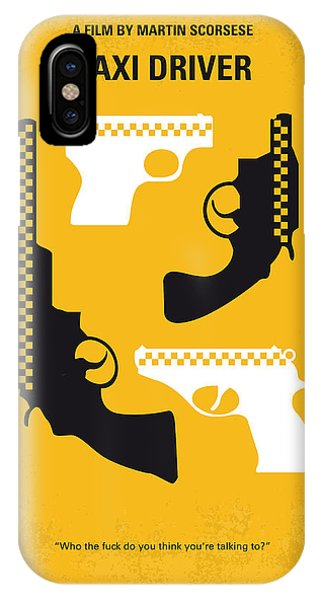 No087 My Taxi Driver Minimal Movie Poster IPhone Case