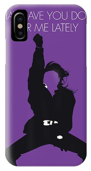 Rhythm And Blues iPhone X / XS Case - No091 My Janet Jackson Minimal Music Poster by Chungkong Art