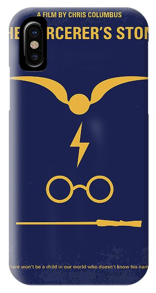 Stone Wall iPhone Case - No101-1 My Hp - Sorcerers Stone Minimal Movie Poster by Chungkong Art
