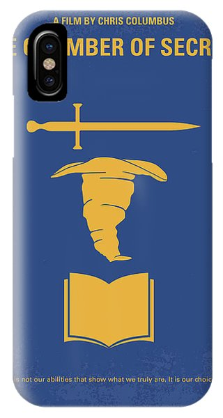 Elf iPhone X Case - No101-2 My Hp - Chamber Of Secrets Minimal Movie Poster by Chungkong Art