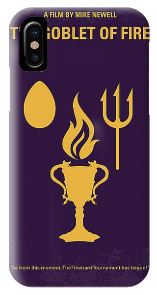 Fire iPhone Case - No101-4 My Hp - Goblet Of Fire Minimal Movie Poster by Chungkong Art