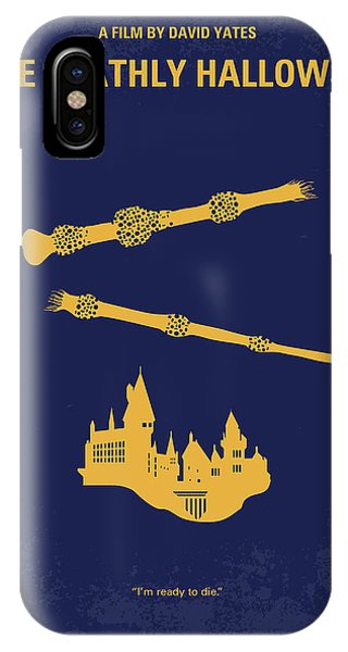 Hogwarts iPhone Case - No101-8 My Hp - Deathly Hallows II Minimal Movie Poster by Chungkong Art