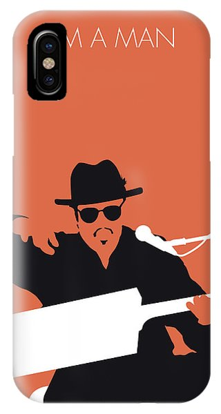 Rhythm And Blues iPhone X / XS Case - No103 My Bo Diddley Minimal Music Poster by Chungkong Art