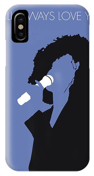 I Love You iPhone Case - No108 My Whitney Houston Minimal Music Poster by Chungkong Art
