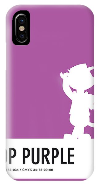 Brain iPhone Case - No11 My Minimal Color Code Poster Top Cat by Chungkong Art