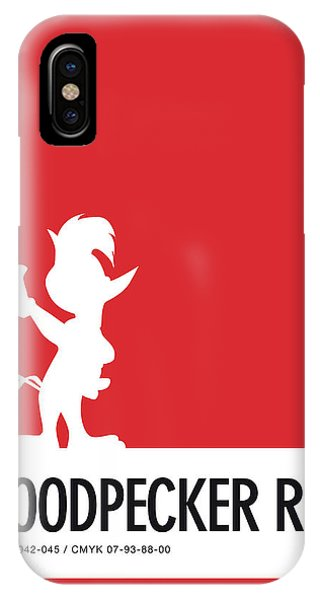 Duck iPhone Case - No12 My Minimal Color Code Poster Woody Woodpecker by Chungkong Art