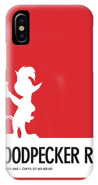 Brain iPhone Case - No12 My Minimal Color Code Poster Woody Woodpecker by Chungkong Art