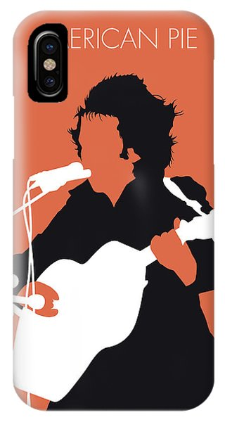 No143 My Don Mclean Minimal Music Poster IPhone Case