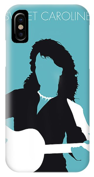 Diamond iPhone Case - No145 My Neil Diamond Minimal Music Poster by Chungkong Art