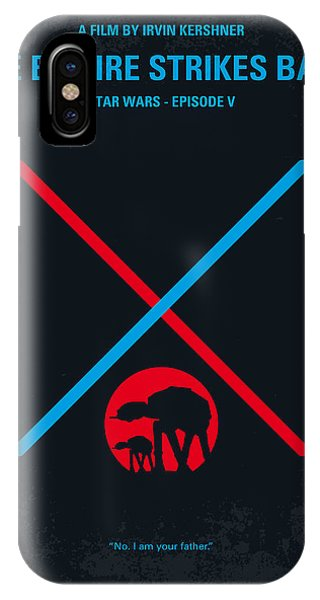 Calm iPhone Case - No155 My Star Wars Episode V The Empire Strikes Back Minimal Movie Poster by Chungkong Art