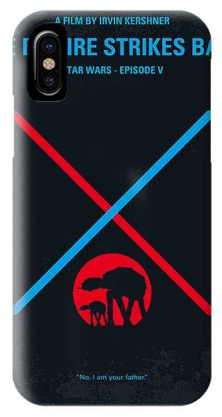 Knight iPhone Case - No155 My Star Wars Episode V The Empire Strikes Back Minimal Movie Poster by Chungkong Art