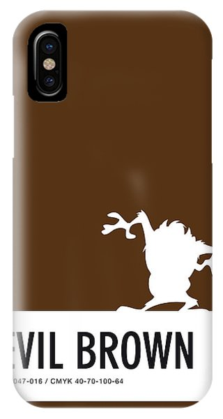 No16 My Minimal Color Code Poster Tasmanian Devil IPhone Case