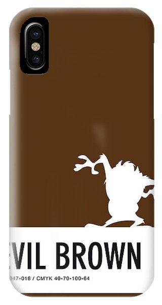 Brain iPhone Case - No16 My Minimal Color Code Poster Tasmanian Devil by Chungkong Art