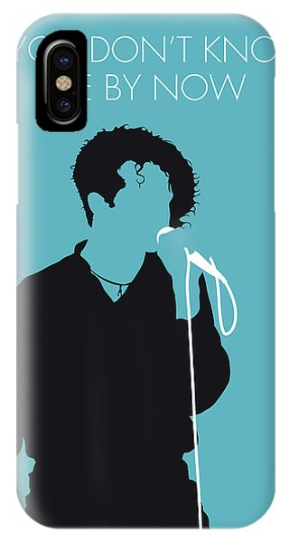 Rhythm And Blues iPhone X / XS Case - No165 My Simply Red Minimal Music Poster by Chungkong Art