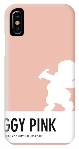 Brain iPhone Case - No17 My Minimal Color Code Poster Porky Pig by Chungkong Art