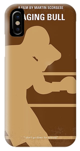 Bull iPhone Case - No174 My Raging Bull Minimal Movie Poster by Chungkong Art