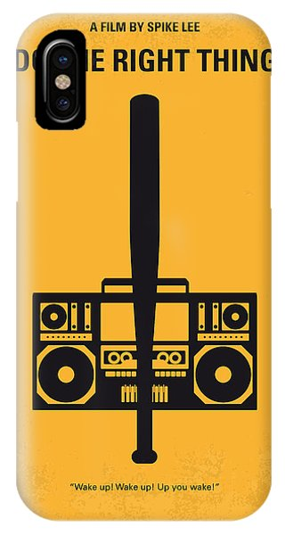 Movie iPhone Case - No179 My Do The Right Thing Minimal Movie Poster by Chungkong Art