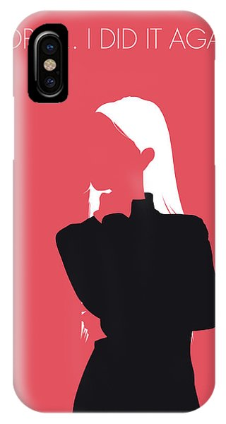 Again iPhone Case - No182 My Britney Spears Minimal Music Poster by Chungkong Art
