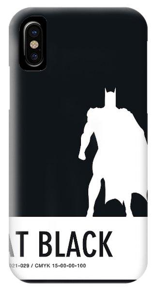 Superhero iPhone Case - No20 My Minimal Color Code Poster Batman by Chungkong Art