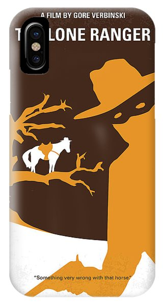 American iPhone Case - No202 My The Lone Ranger Minimal Movie Poster by Chungkong Art