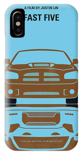 Nissan iPhone Case - No207-5 My Fast Five Minimal Movie Poster by Chungkong Art