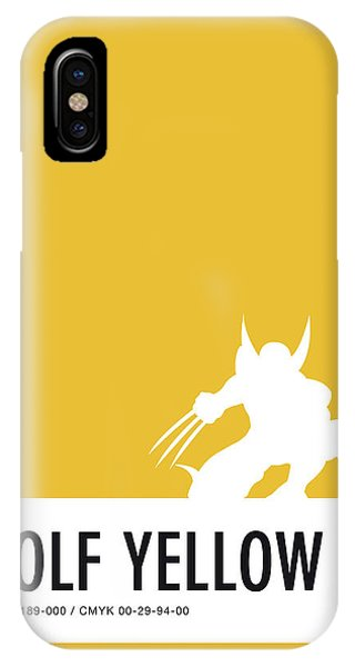 Comic iPhone Case - No21 My Minimal Color Code Poster Wolverine by Chungkong Art