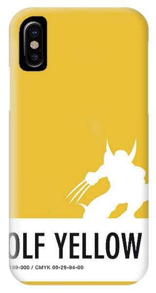 Superhero iPhone Case - No21 My Minimal Color Code Poster Wolverine by Chungkong Art