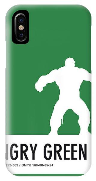 Superhero iPhone Case - No22 My Minimal Color Code Poster Hulk by Chungkong Art
