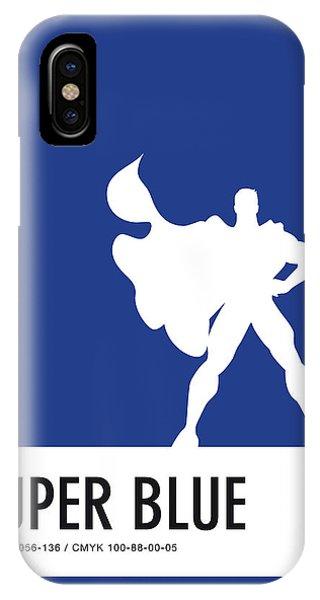 Superhero iPhone Case - No23 My Minimal Color Code Poster Superman by Chungkong Art