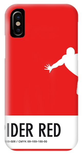 Superhero iPhone Case - No24 My Minimal Color Code Poster Spiderman by Chungkong Art