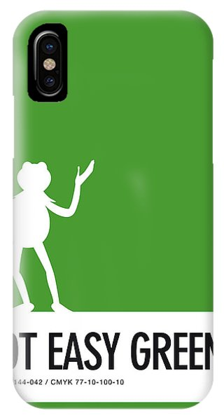 Amphibians iPhone Case - No25 My Minimal Color Code Poster Kermit  by Chungkong Art