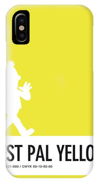 Frogs iPhone Case - No31 My Minimal Color Code Poster Bert by Chungkong Art
