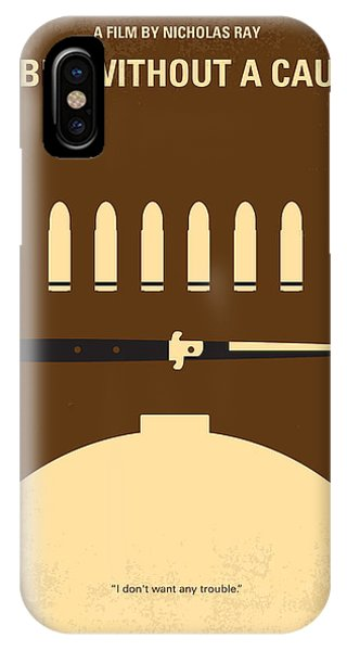 No318 My Rebel Without A Cause Minimal Movie Poster IPhone Case