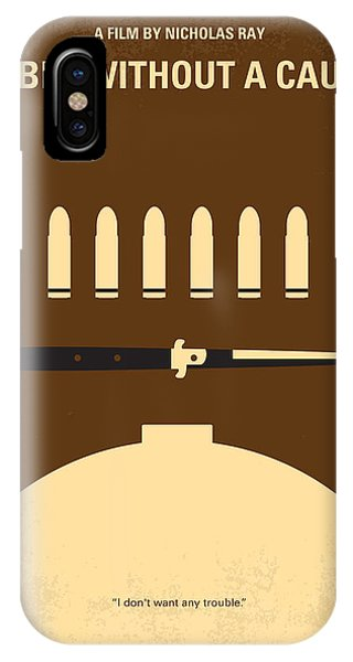 Crash iPhone X Case - No318 My Rebel Without A Cause Minimal Movie Poster by Chungkong Art
