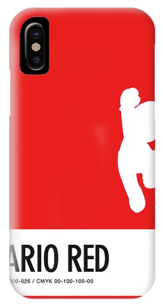 Floral iPhone Case - No33 My Minimal Color Code Poster Mario by Chungkong Art