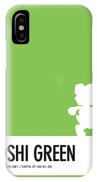 Peach iPhone Case - No36 My Minimal Color Code Poster Yoshi by Chungkong Art