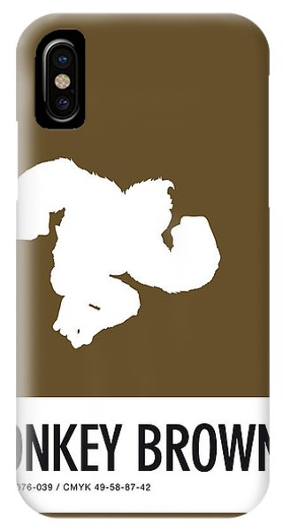 Floral iPhone X Case - No37 My Minimal Color Code Poster Donkey Kong by Chungkong Art