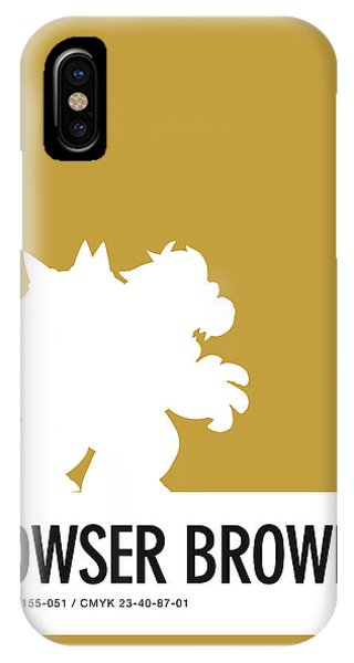 Daisy iPhone Case - No38 My Minimal Color Code Poster Bowser by Chungkong Art