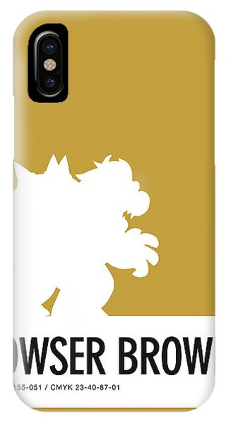 Floral iPhone Case - No38 My Minimal Color Code Poster Bowser by Chungkong Art