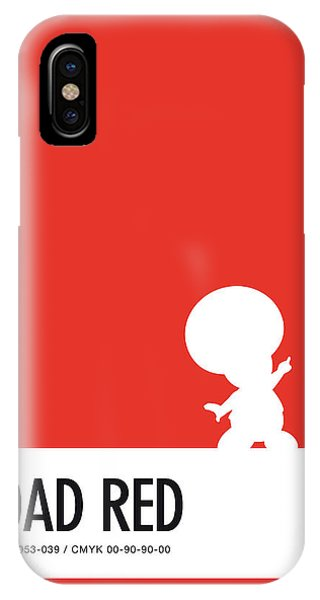 Floral iPhone X Case - No41 My Minimal Color Code Poster Toad by Chungkong Art