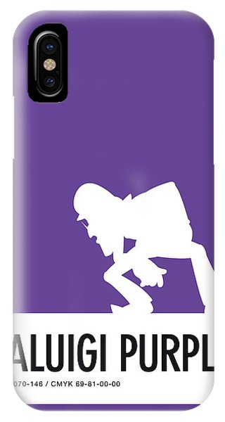 Daisy iPhone Case - No42 My Minimal Color Code Poster Waluigi by Chungkong Art