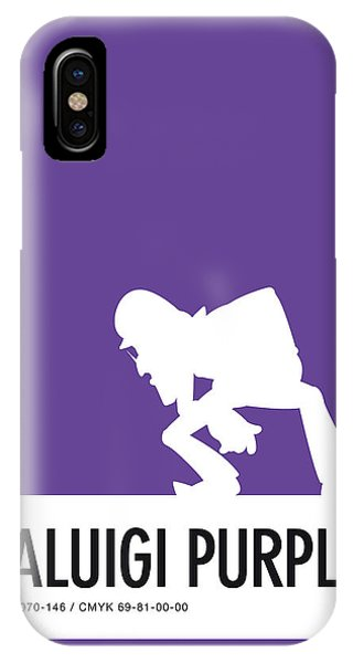 Peach iPhone Case - No42 My Minimal Color Code Poster Waluigi by Chungkong Art
