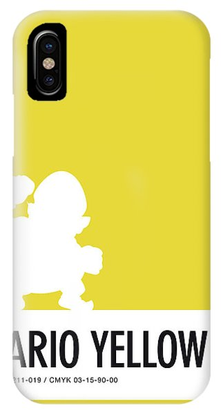 Peach iPhone Case - No43 My Minimal Color Code Poster Wario by Chungkong Art